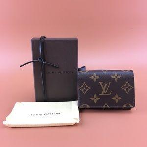 Preowned LV Monogram Pocket Organizer Flap Wallet